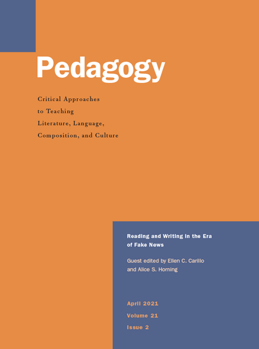 Social annotation as transcontextualization in graduate reading practices | Pedagogy: Critical approaches to teaching literature, language, composition and culture
