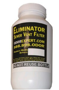 A bottle of our sewer vent filter