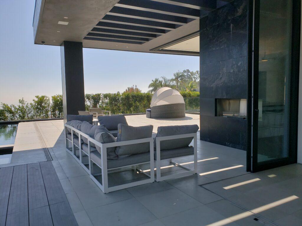 Incorporated indoor outdoor-patio