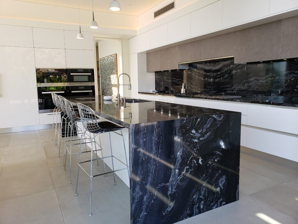 2 piece slab stone counter-top