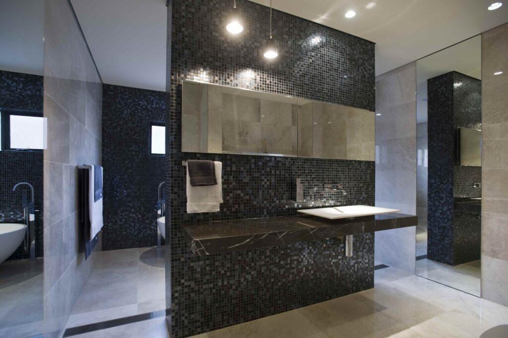 minosa-modern bathroom design-bathroom-bisazza-iside-travertine-floating-bench-puddle-corian-basin-minosa-recessed-shaving-cabinet-lift up-03