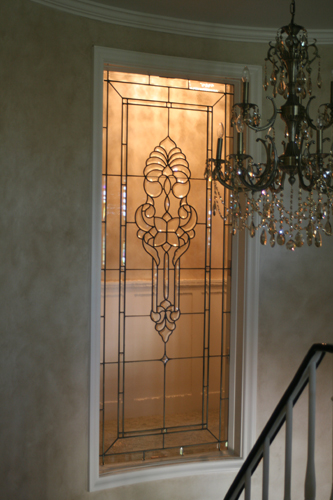 Beveled Glass Panel in Private Residence