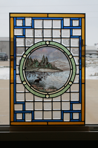 Victorian Style Panel With Painted Center Piece