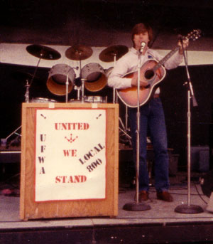 Rally in Sheboygan, Wisconsin to support striking Furniture Workers, 1985.