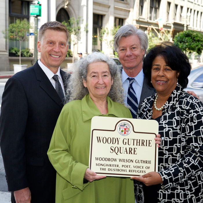 Woody Guthrie Square Dedication with Darryl Holter & Nora Guthrie