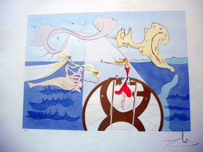"Dali-""Sewing Machine"" from the portfolio ""Hommage a Leonardo da Vinci"""