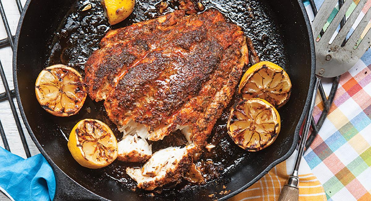 Grill Blackened Grouper
