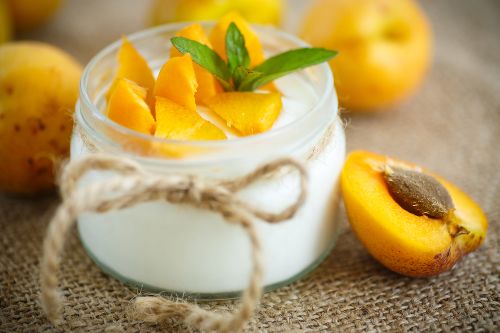 yogurt contains probiotics which improve gut flora