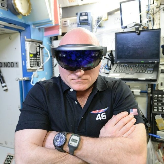 Microsoft HoloLens in space: Making science fiction (mixed) reality