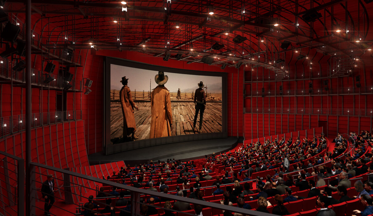 Academy Museum of Motion Pictures interior rendering, David Geffen Theater © Renzo Piano Building Workshop: © Academy Museum Foundation: image from Cristano Zaccaria
