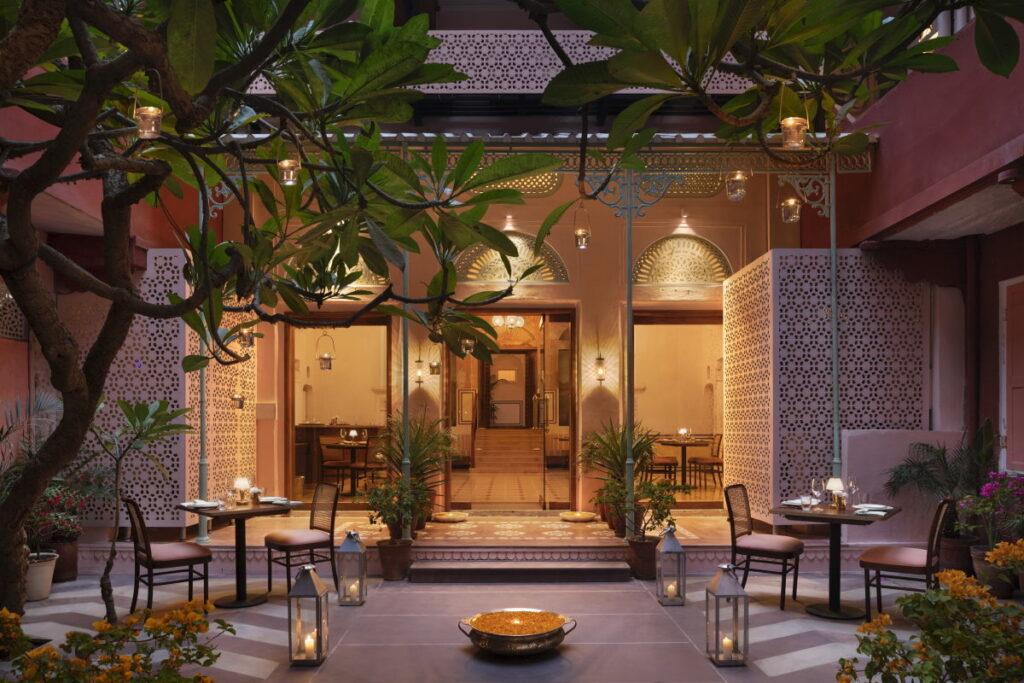 The Johri_Jaipur_Outer courtyard facing restaurant
