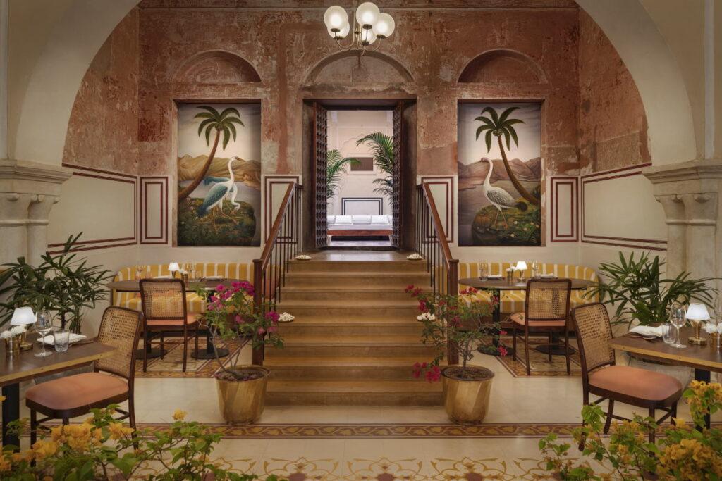 The Johri_Jaipur_Restaurant inside facing hotel door