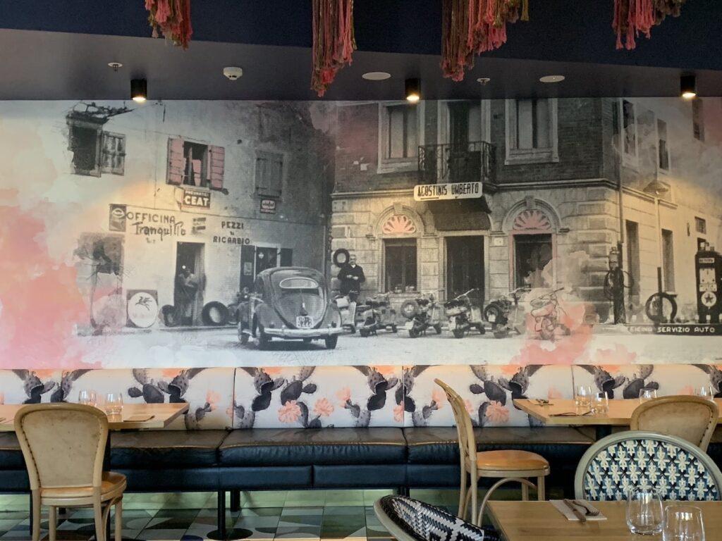 Agostinis mural at East Hotel, Canberra. Image by Vintage Travel Kat