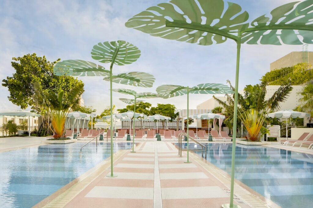 The Goodtime Hotel Pool At Strawberry Moon by Alice Gao