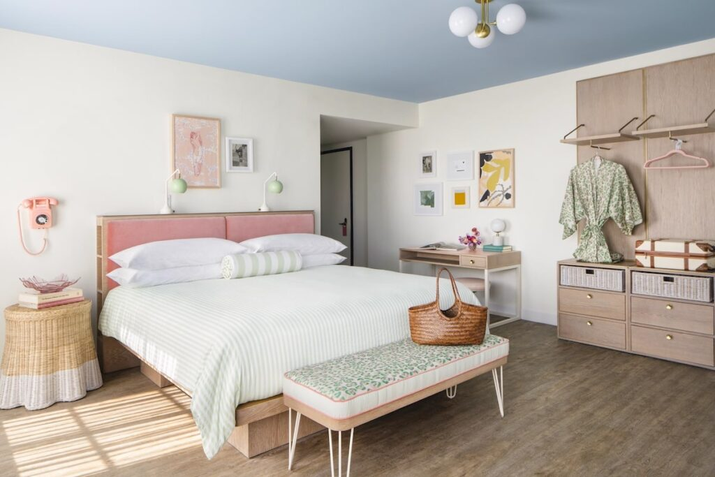 The Goodtime Hotel guest room by Alice Gao