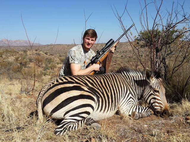 Hartmann Zebra, 378 Wby Mag, 336 gr PlainsMaster, 295 yards, broadside shot