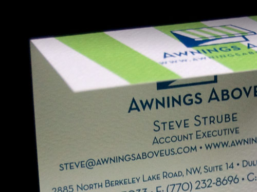 Awnings Business Card