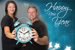 Dentists at Cobblestone Park Family Dental wishing their patients a happy New Year