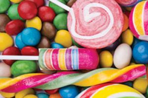 Pile of sticky candy