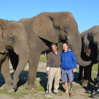 vets group with charlie and elephant