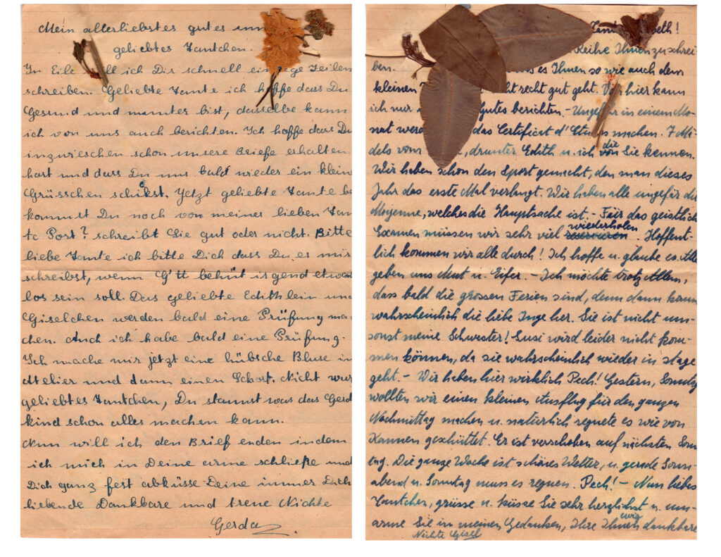 Image of a Letter from Gerda and Gisel