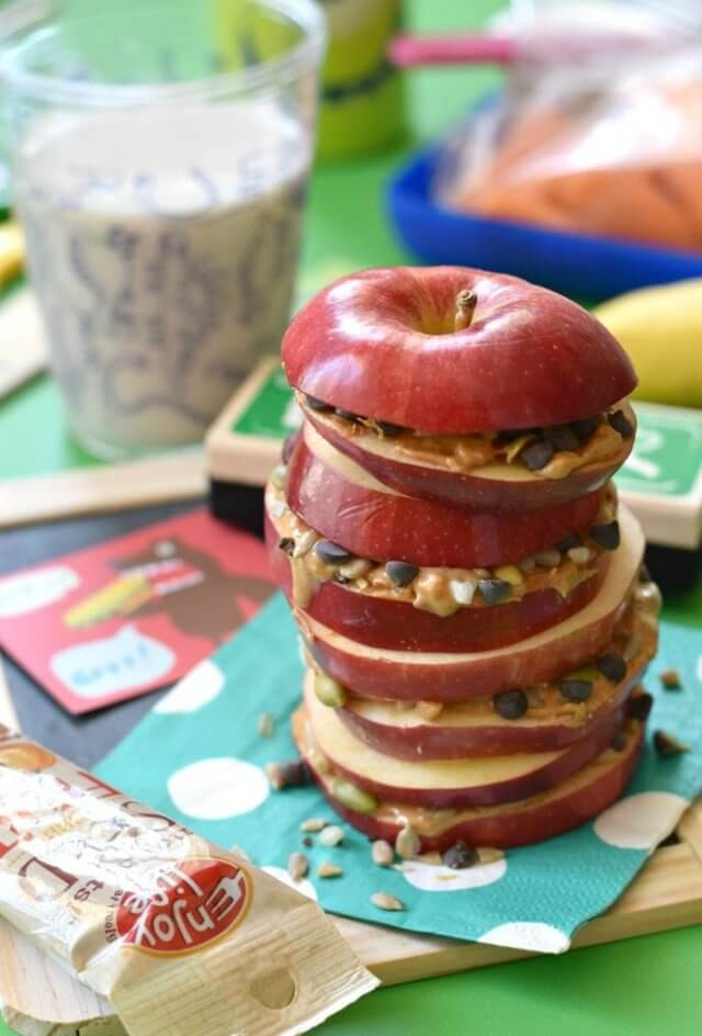These fun and delicious apple snacks are perfect for celebrating the Jewish New Year and the Fall season (vegan and dairy-free).