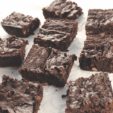 Get an inside peek at the 101 vegan comfort foods in Sam Turnbull's new cookbook, Fuss Free Vegan, including her Fudgy Double Chocolate Brownies.
