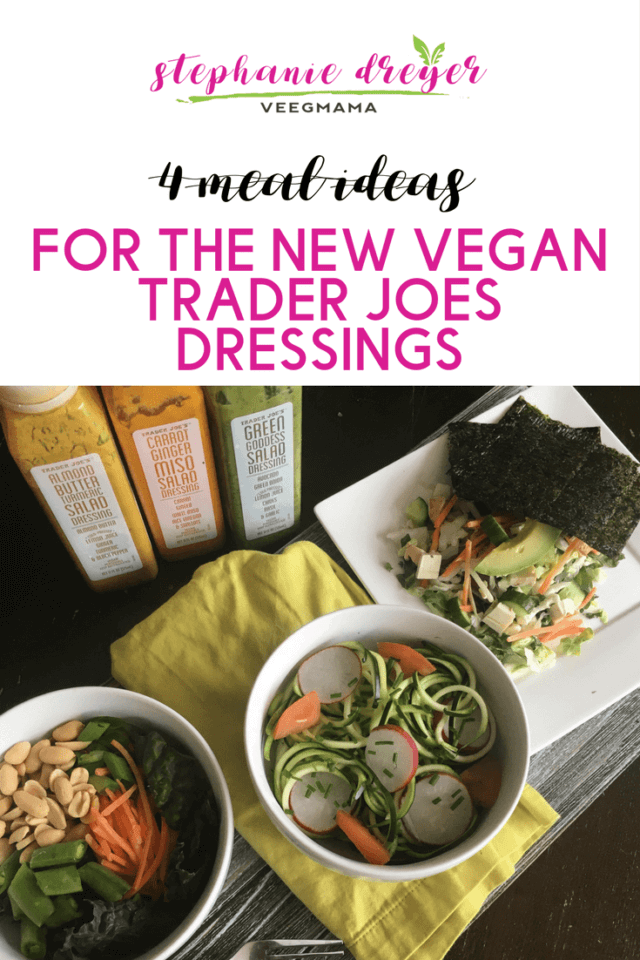 Who else is obsessed with the new vegan salad dressings at Trader Joe's? They are so much more more than salad toppers. I am using them on everything! Get all of my ideas for what to do with these flavorful gifts from the vegan gods today at my blog. Link in bio. #traderjoes #saladdressing #vegan #whatveganseat #mealideas #cookingtip #inthekitchen #healthyfood #healthyeating #recipeideas #mealplanning #whattoeat