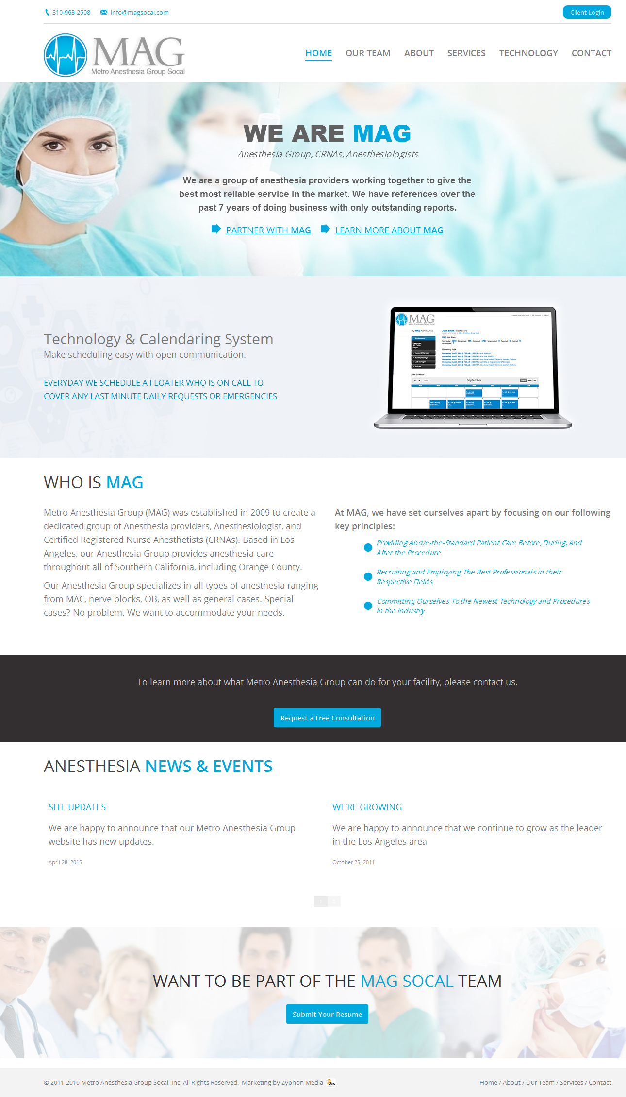 Marketing for Metro Anesthesia Group (MAG)