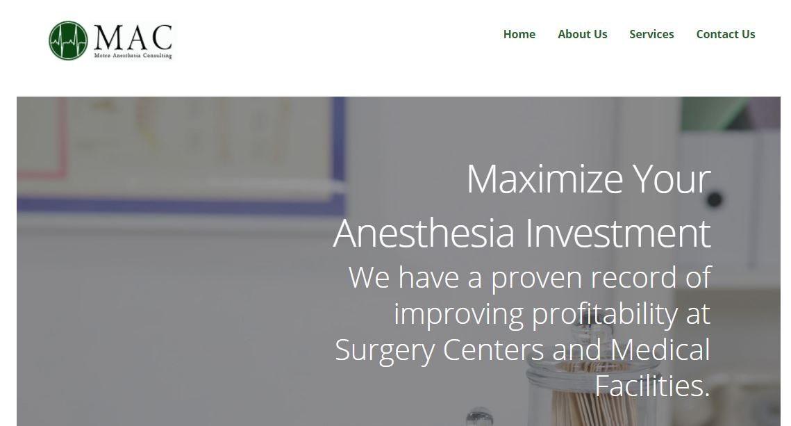 Metro Anesthesia Consulting's Responsive Website