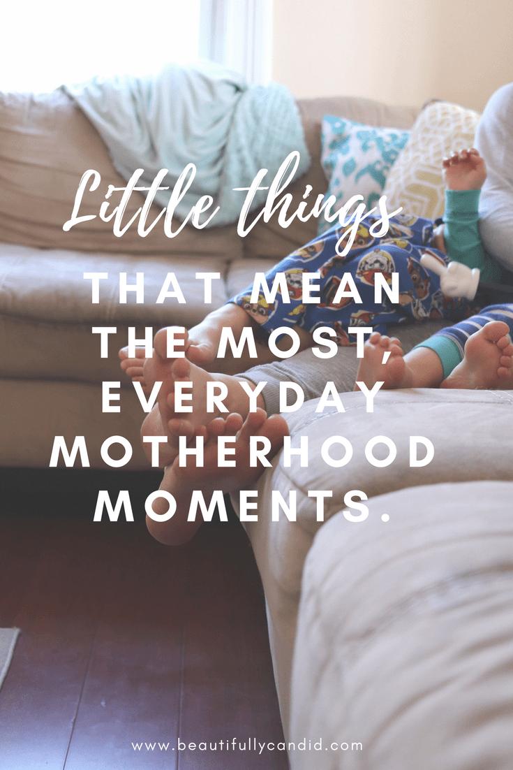 Little moments in motherhood