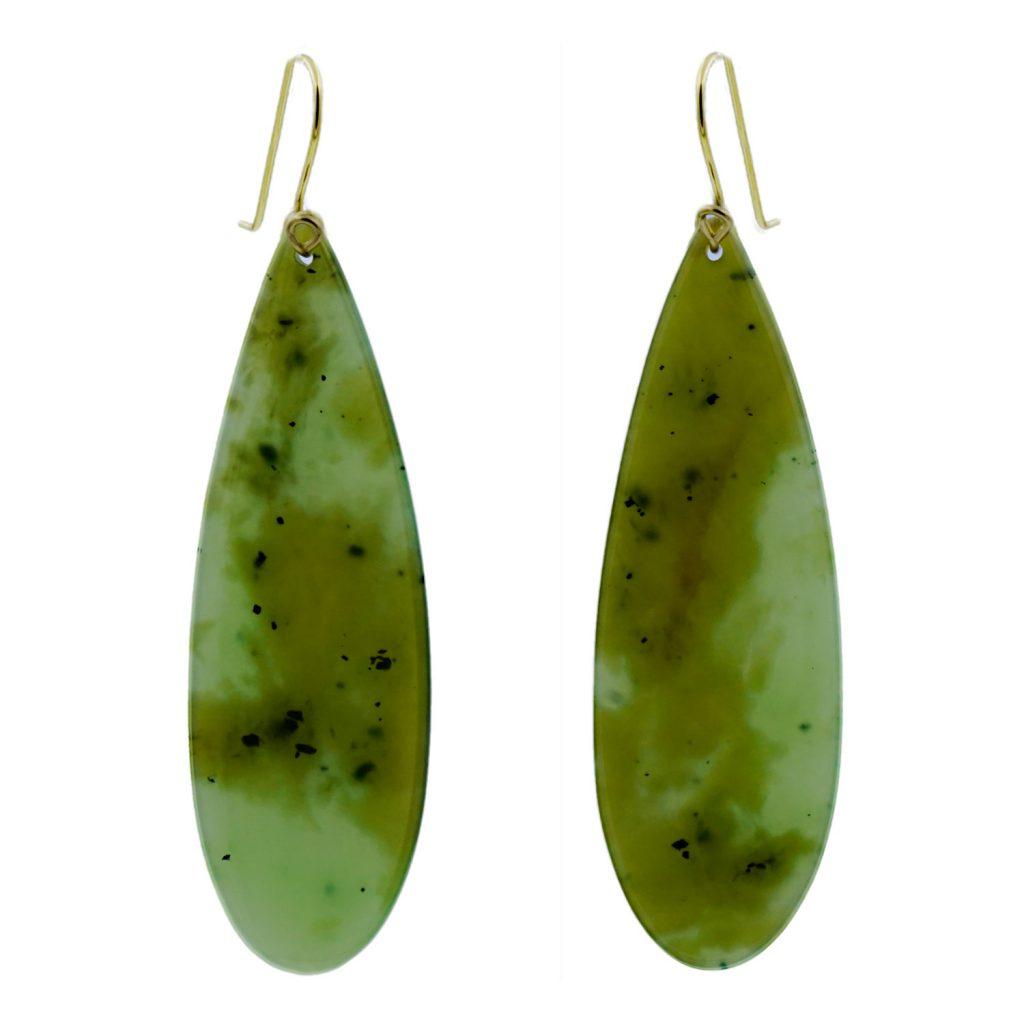 Artist Justin Barrett Siberian Jade Earrings