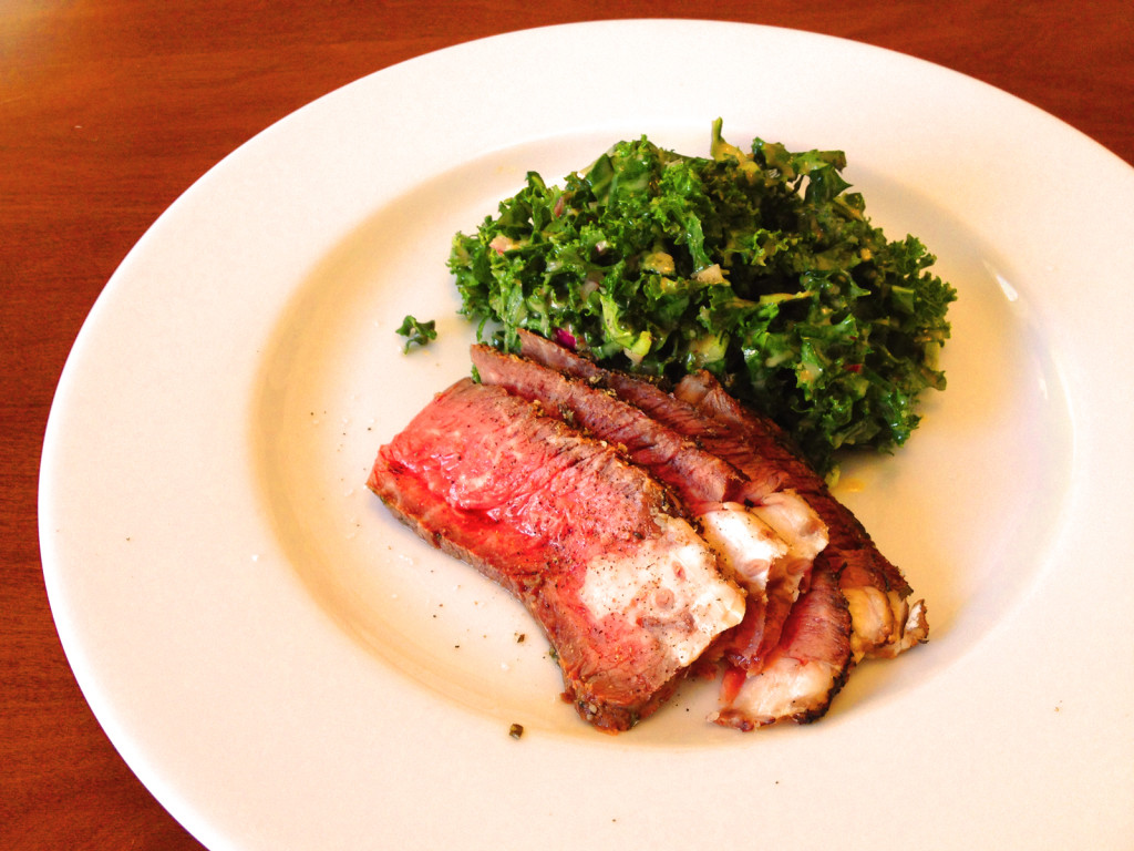 Turn the Kale Slaw into a meal by serving a side of roast beef. Photo © Ben Young Landis.