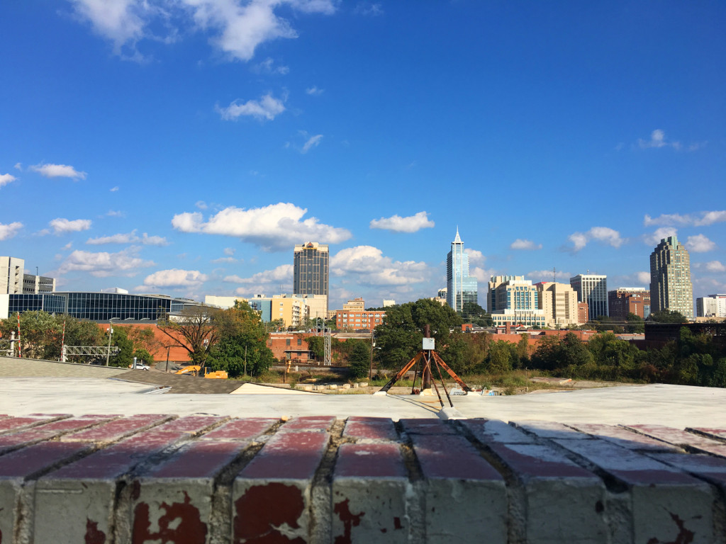 Raleigh, North Carolina, from the vantage of Boylan Bridge Brewpub. Photo © Ben Young Landis.