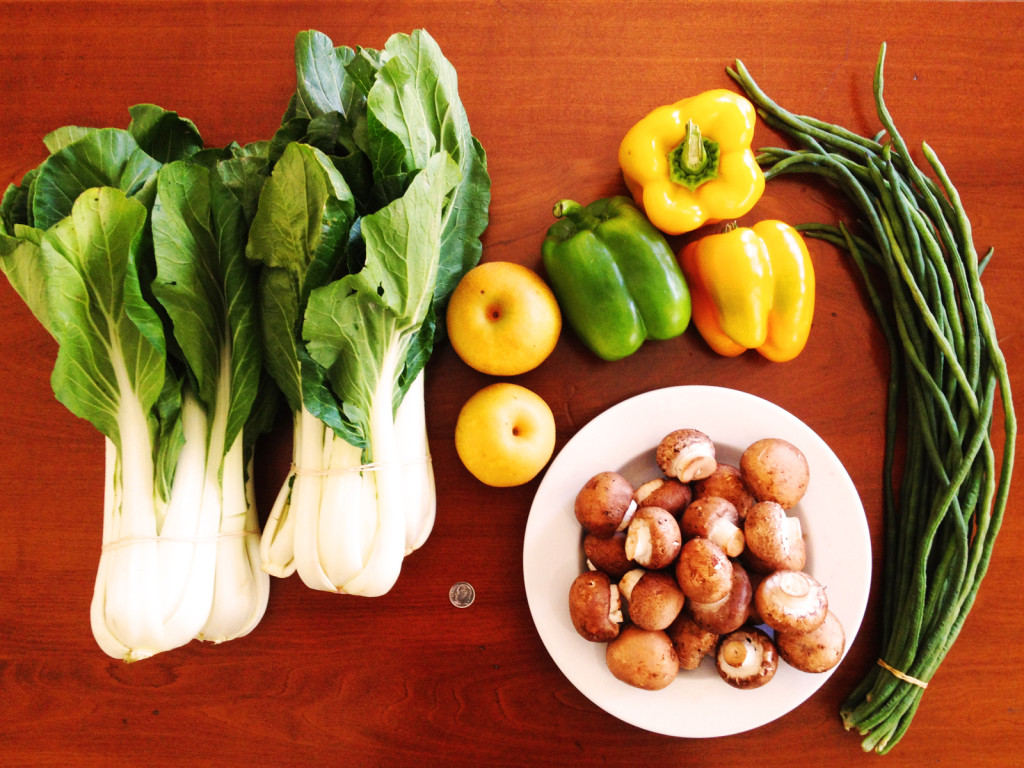 Items bought for under $10 at the Sacramento Central Farmers Market. Photo © Ben Young Landis