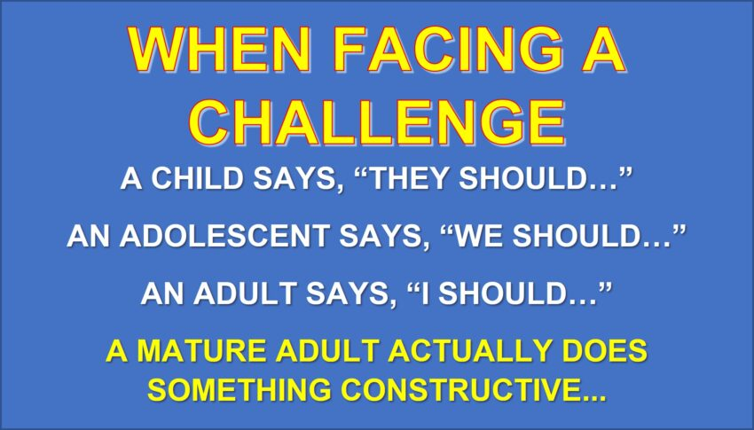 When Confronting Challenges
