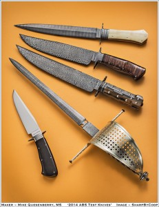 Mastersmith Test Knives