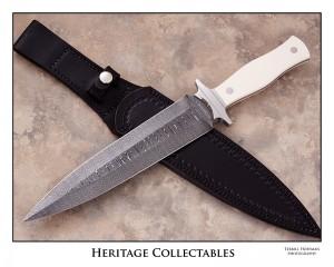 Damascus Dagger with sheath