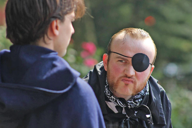 Felix Birdie is just one of the talented actors in this year's Shakespeare performance.