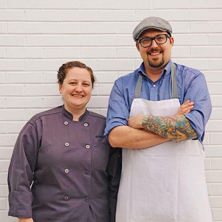 Pastry Chef Katie Kopsick (Left) and Lawrence Kocurek (Right) Credit Tiffany Meehan