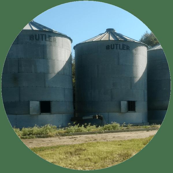 Unused Flat Bottom Grain Bins