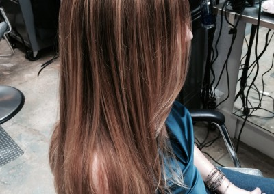 Low contrast highlight and haircut