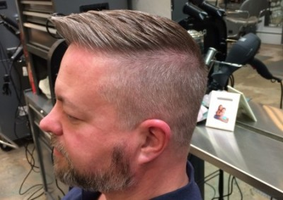 Edgy hair cut for man
