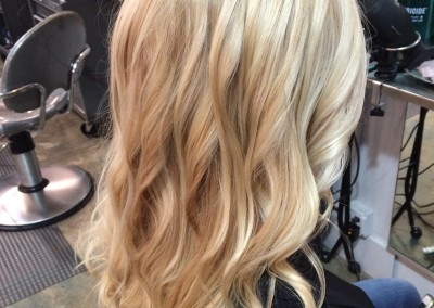 Dimensional highlight with foil and haircut