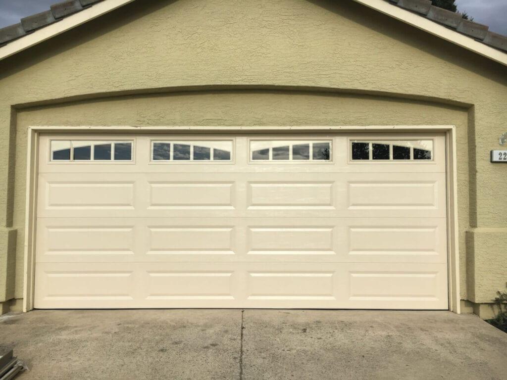 image of a new garage door.