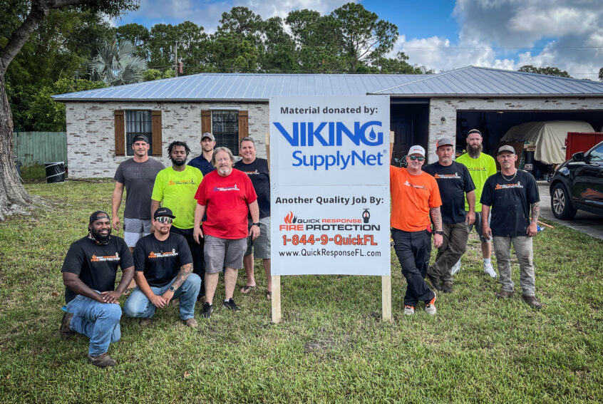 Quick Response and Viking Home Fire Sprinkler System