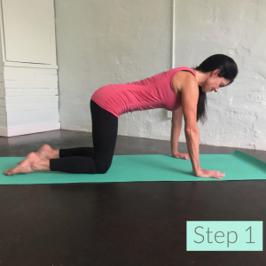 Use your imagination to stimulate your muscles. Start in a table top position. Inhale. Exhale, as you think about lifting your right hand and left leg off of the floor. Repeat on opposite side.