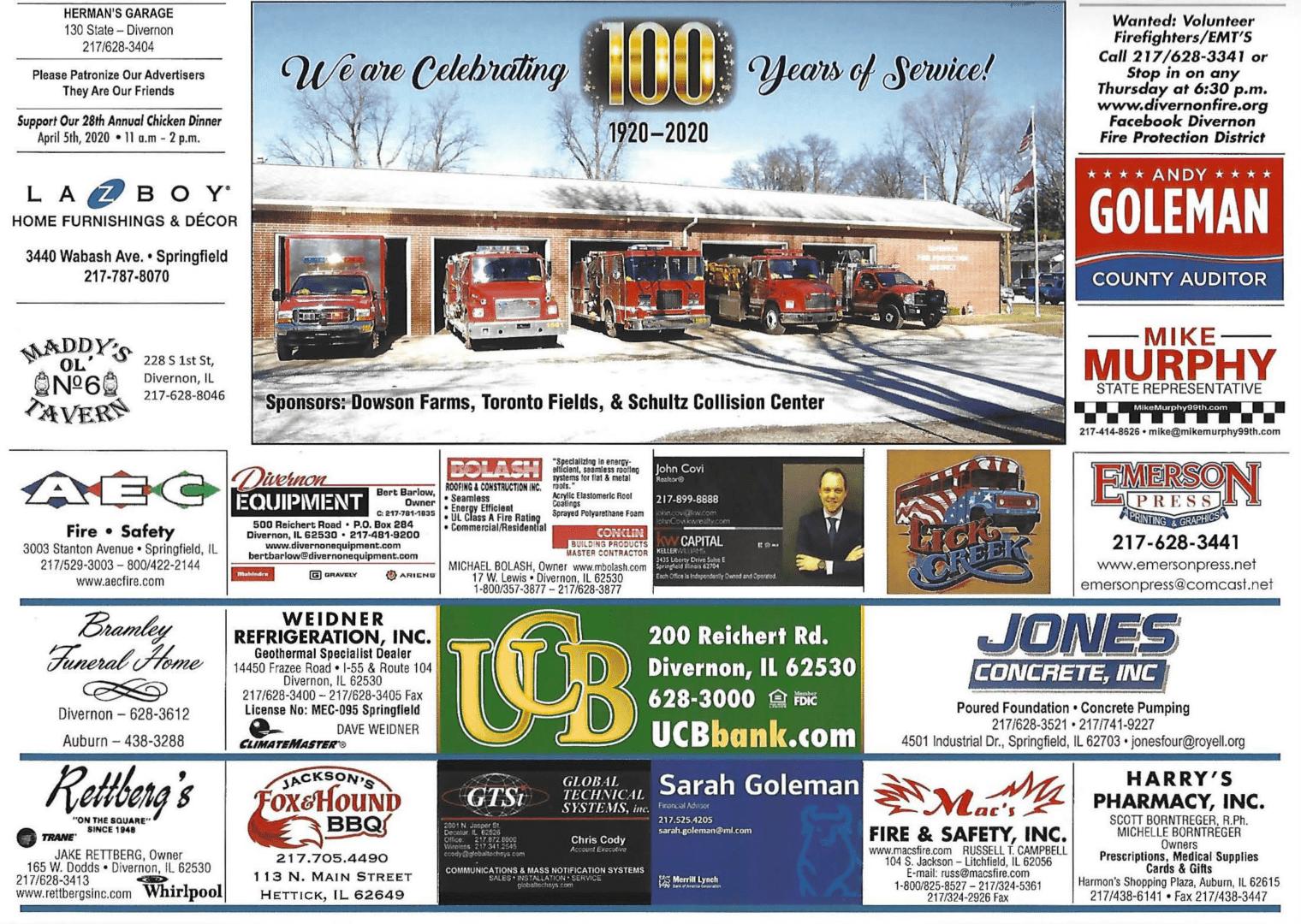 2020 Fire Calendar