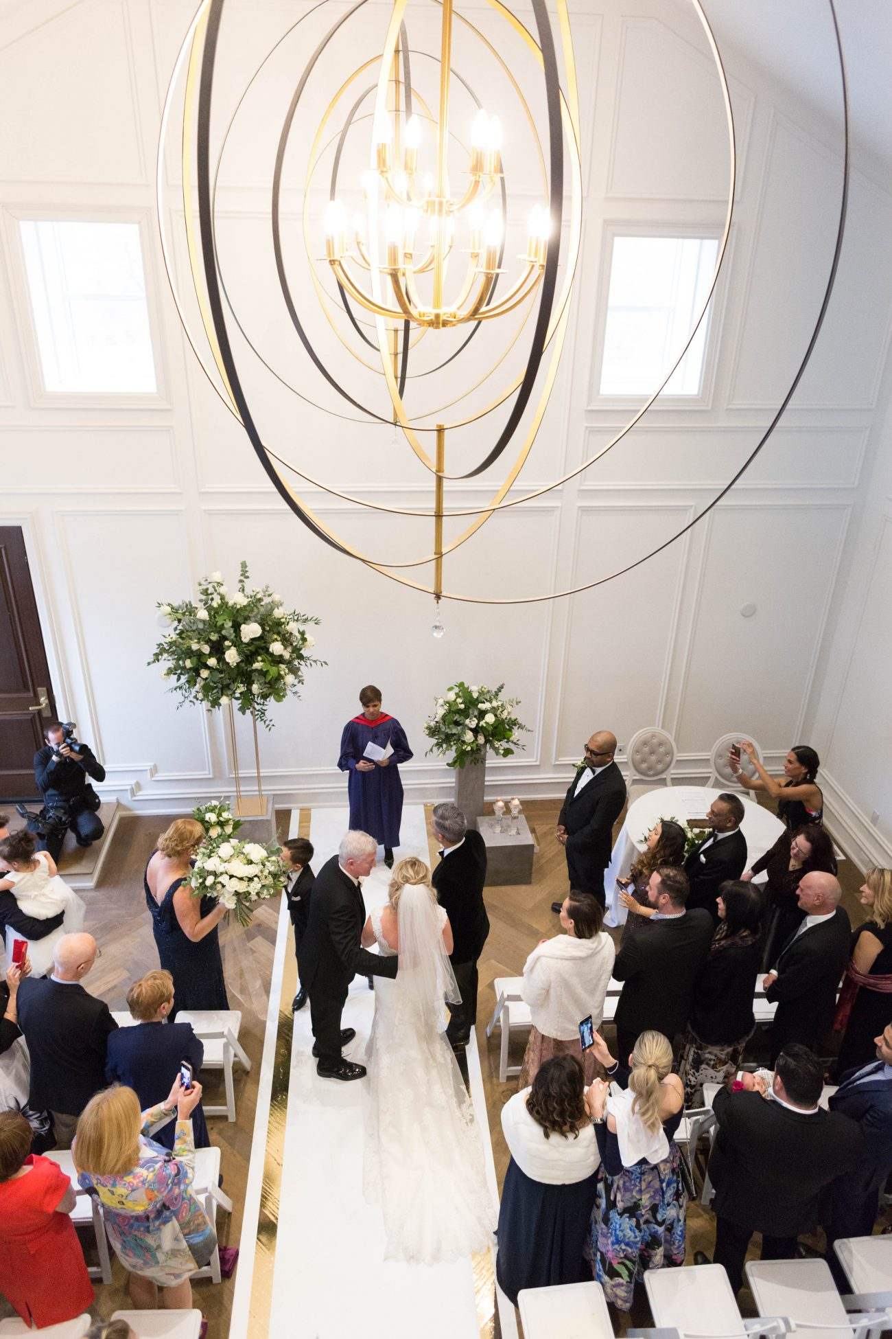 Wedding ceremony at the Heritage House Chapel