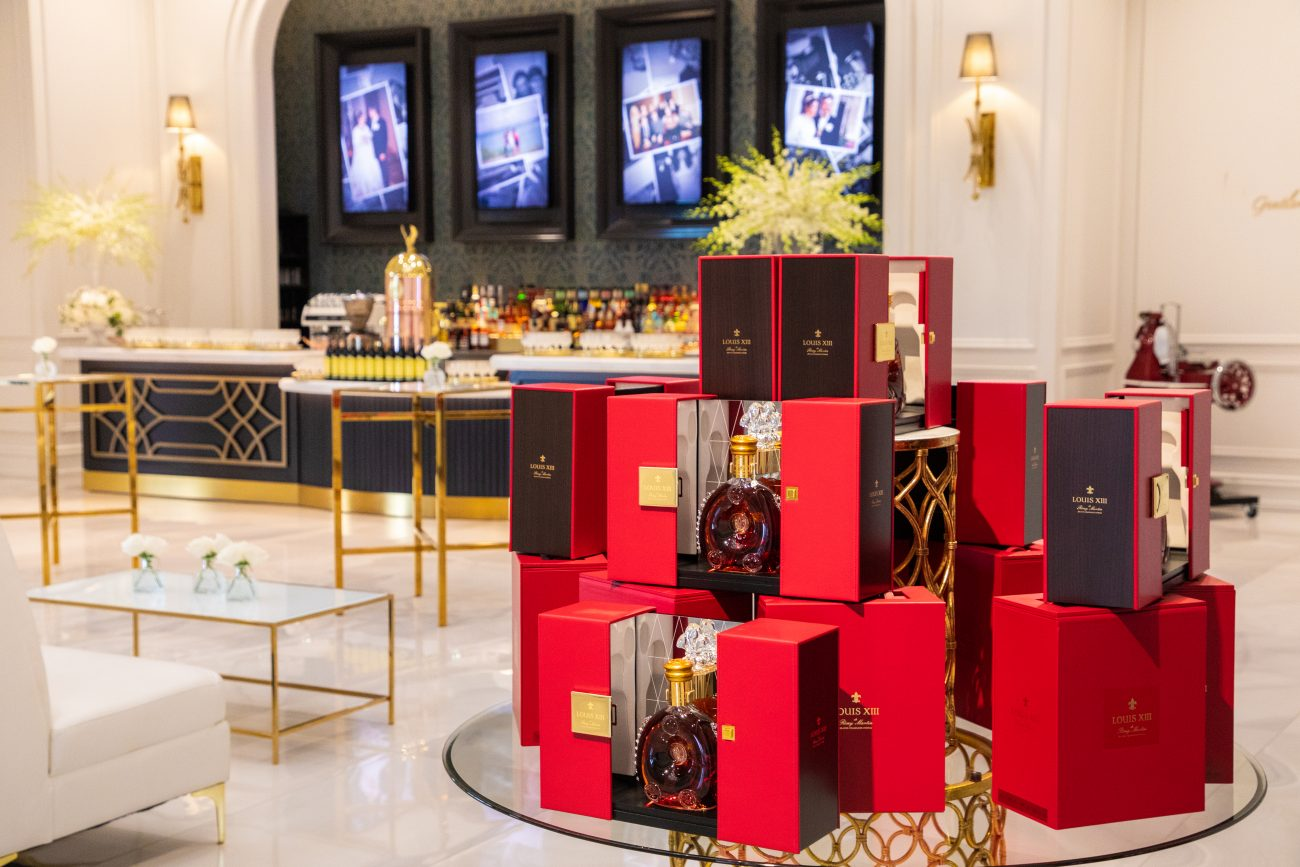 Corporate Event with Louis XIII bottles